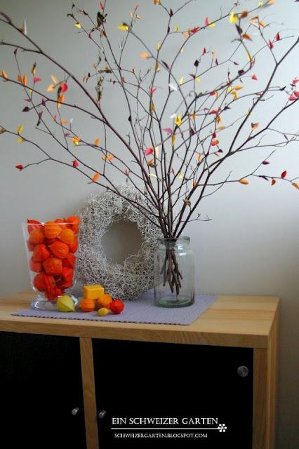 Herbstbaum war Deko bei Finn´s Taufe und ganz einfach, aber richtig wirkungsvoll. TOLL!!