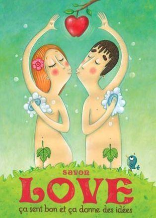 Carte postale Amandine Piu - Savon Love- Editions de Mai