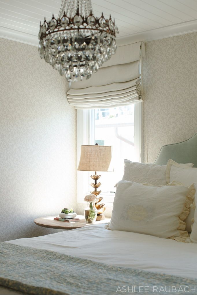 Get The Look: Dreamy Bedroom   Owens And Davis, Linen Roman Shades