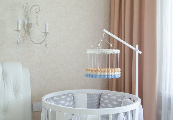 Baby Mobile Arm Mobile Holder Mobile Hanger Crib Mobile Mobile Hanger White Wooden Hangers Baby Mobile Arm