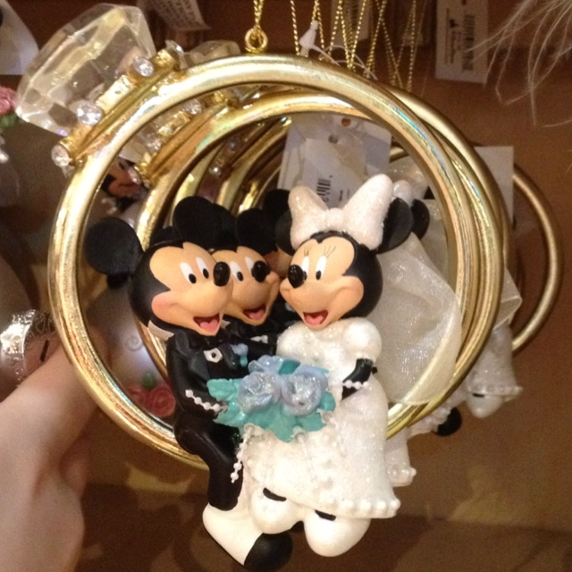 Mickey And Minnie Engagement Ornament Disney Pinterest Engagement And O