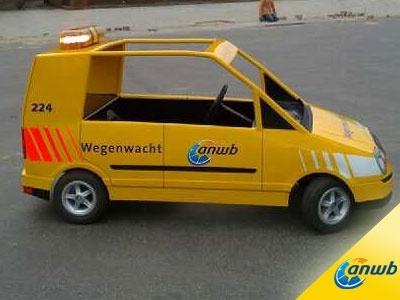 De speciale Wegenwacht auto op verkeerspark Assen.