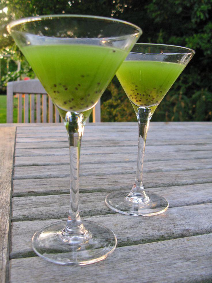 Kiwi Martini = Kiwi, Vodka en Citroeb/Limoen