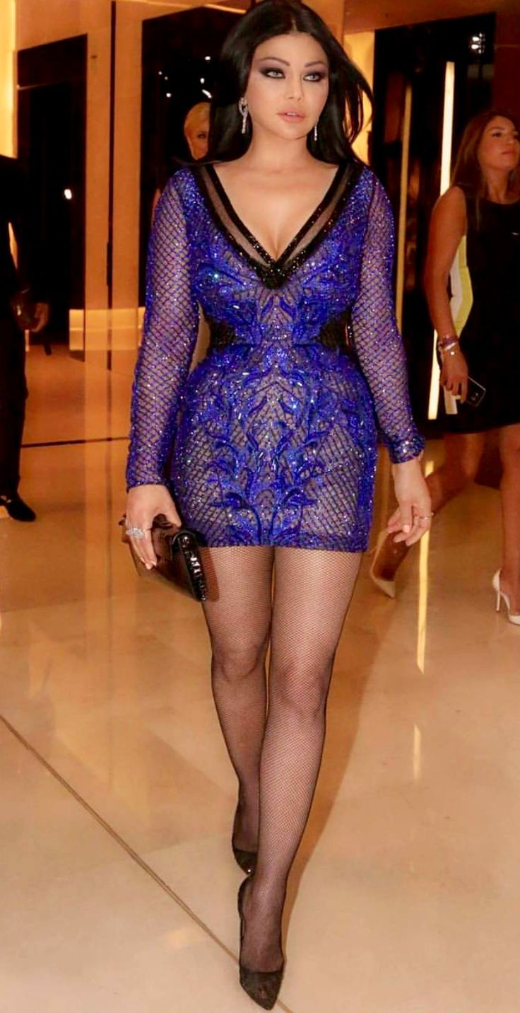 Haifa Wehbe  Glitz and Glam  Hour Glass Shaping dress