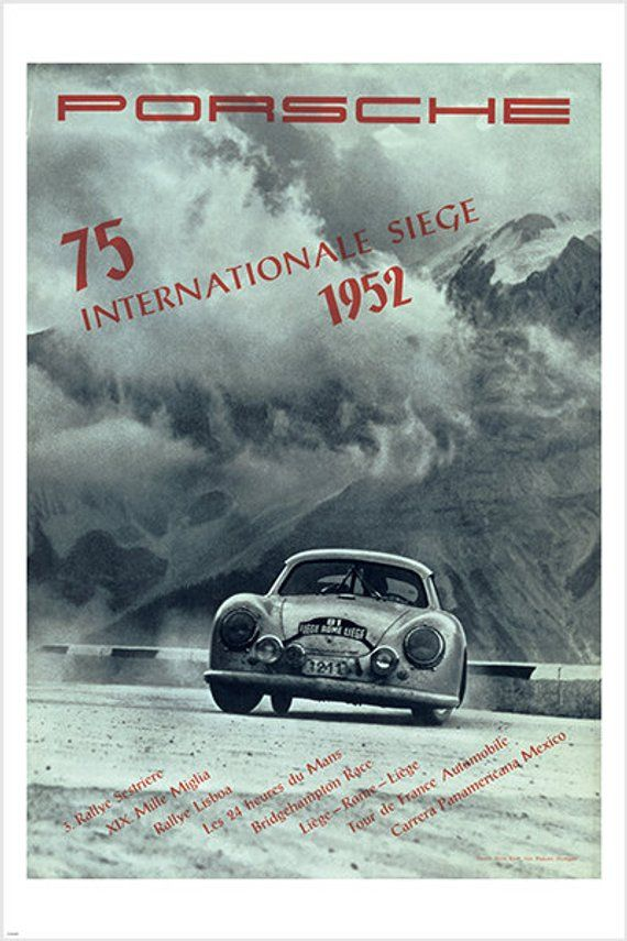 Porsche 356 Race Internationale Alpenfahrt 1953 Reprint