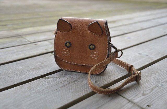 Lovely kitty cat purse - Etsy shop https://www.etsy.com/nl/listing/497806767/childrens-lederen-tas-kitty-tas-kitten