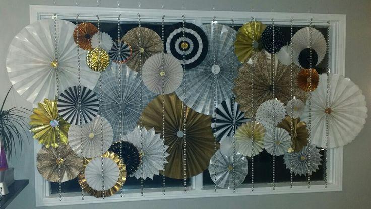 Gold silver black pinwheel   #gold #silver #pinwheel