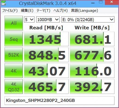 価格.com - キングストン HyperX Predator PCIe SSD SHPM2280P2/240G 夏のひかりさんのレビュー・評価投稿画像・写真「Z87、MBR、AHCI、クローンの条件でOS起動できるか?」[238125]