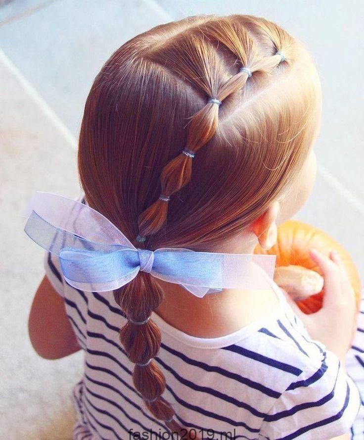 Einfache Frisur für kleine Mädchen, die 2 Minuten oder weniger brauchen: 18 …..