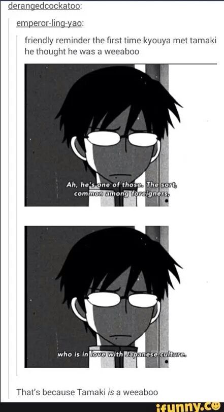 It's so true tho, Tamaki makes them cosplay all the time