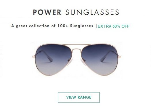 Flat 50% Off On Power Sunglasses at Lenskart