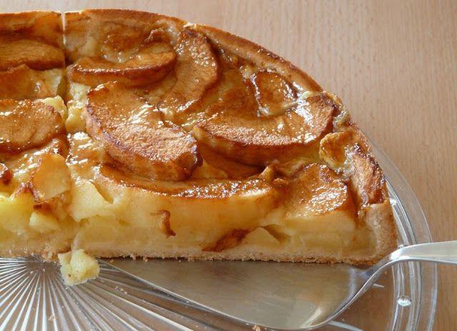 Viajar de Mochila às Costas: Tarte de maçã cremosa