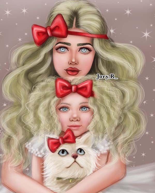 صور رسم بنات كرتون رمزيات رسومات انمي للانستقرام Cute Girl Drawing Cute Girl Wallpaper Girly Pictures