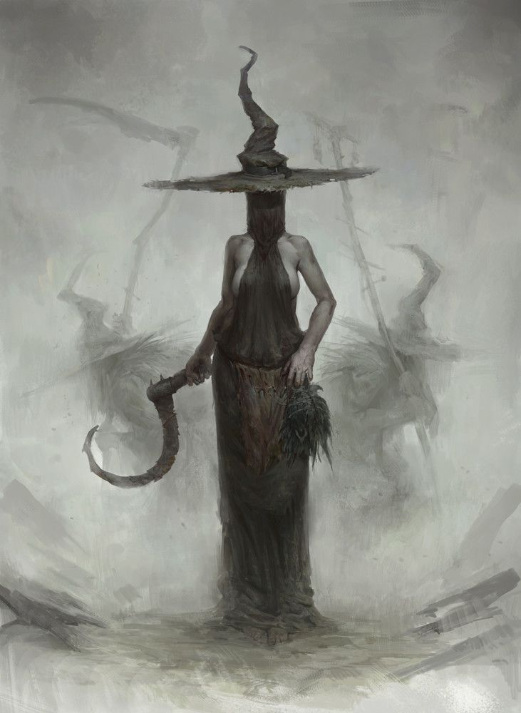 Witches, Bogdan Rezunenko on ArtStation at https://www.artstation.com/artwork/X44l3