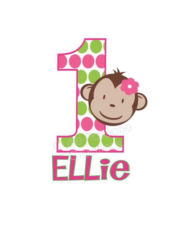 Mod Monkey Birthday T Shirt or Onesie Pink by CutiesTieDyeBoutique, $18.00