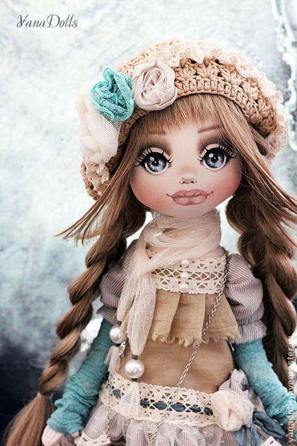 Мелисса - бирюзовый,кукла,кукла ручной работы,кукла в подарок,кукла текстильная