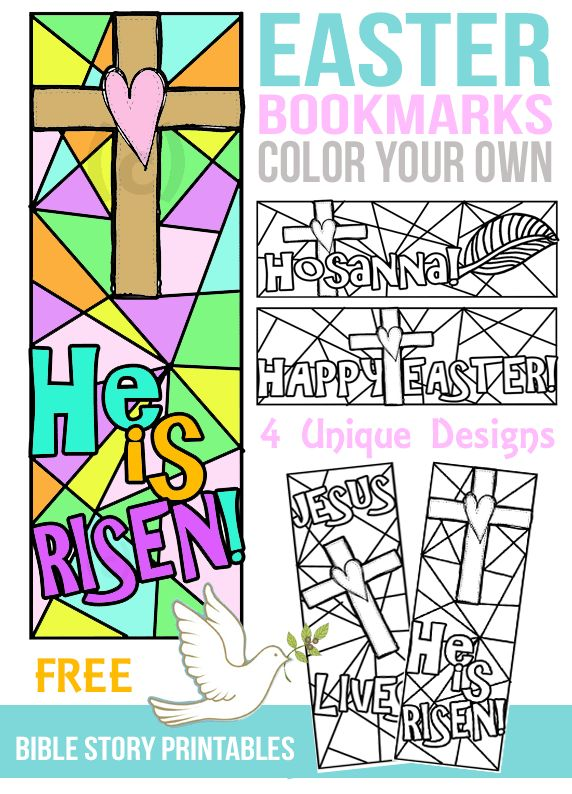 FREE Color Your Own Easter Bookmarks The Crafty Classroom has a FREE set of Easter Bookmarks. These Color Your Own Easter Bible Bookmarks are perfect for ch