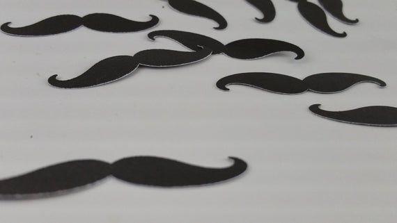 Baby Boy Shower Decoration, Mustache Confetti, gender reveal, mustache birthday party, wedding, brid