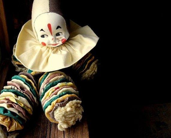 PRICE REDUCED Vintage Yo Yo Clown Doll Collector's 1960s Handmade