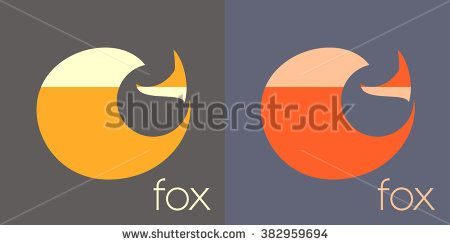 Fox symbol - vector illustration. red fox logo - stock vector