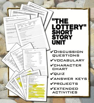 """The Lottery"" by Shirley Jackson Short Story Unit (includes editable files you can customize to suit your needs)"