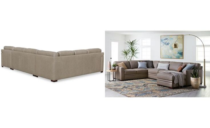 Avenell 3-Pc. Leather Sectional with Full Sleeper Sofa & Chaise, Created for Macy's - Sectional Sofas - Furniture - Macy's