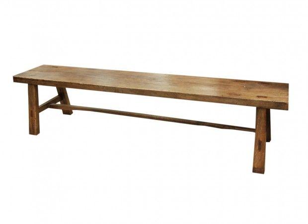 Teak bench - 195x33