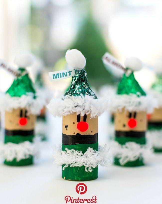 Weihnachten basteln mit Kindern & Küssen Weihnachten basteln mit Kindern mit Hershey Küssen. Leichte, lustige Bastelideen für Weihnachten, die Sie mit Kindern für …