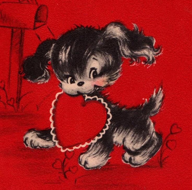 1487 best VALENTINES DOG VINTAGE images on Pinterest  Barrels