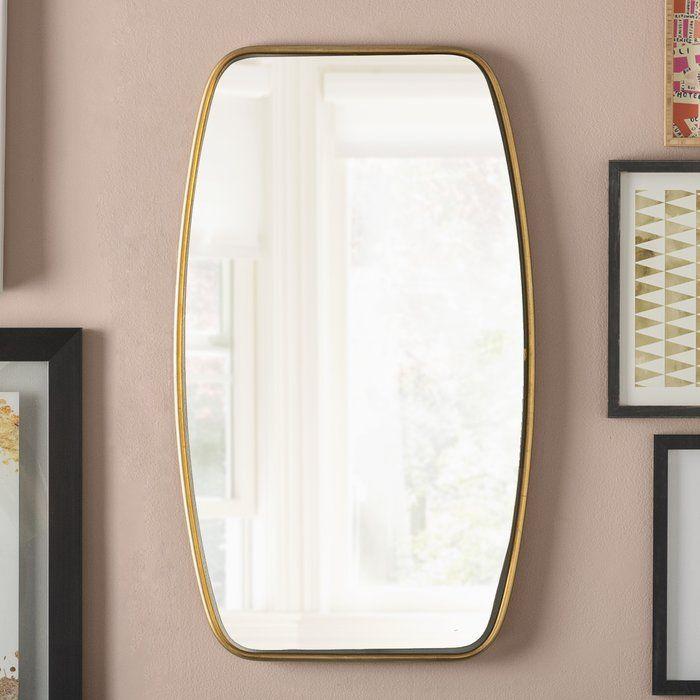 Duke Rectangle Gold Metal Wall Mirror 37