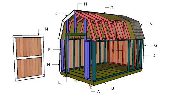 8 10 Gambrel Shed Free Shed Plans Free Shed Plans Diy Shed Plans Shed Plans