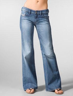 DIESEL Damen Jeans YBO Wide Bootcut W 25 NEU Hüftjeans Bootleg Marlene Hippie 34   eBay