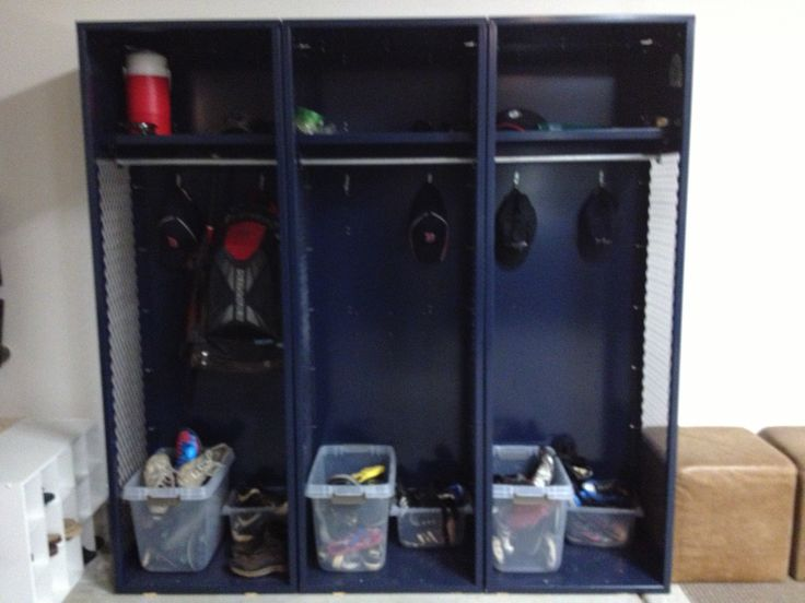 Heavy duty storage lockers for my boys...we ordered them in blue (for our favorite sports teams). Set them up in the garage for all their sports equipment and some of their shoes! N, A, and Q love  them!