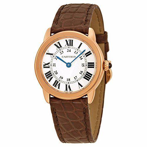 Cartier Ronde Solo De Cartier Silber Zifferblatt Brown Leder Damen Watch w6701007 - http://uhr.haus/cartier/cartier-ronde-solo-de-cartier-silber-zifferblatt