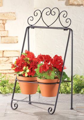 Metal Scroll Garden Plant Holder