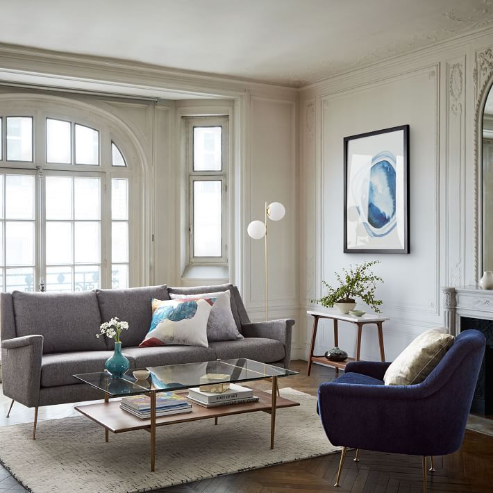 mid century art display coffee table walnut interiors living rh pinterest com