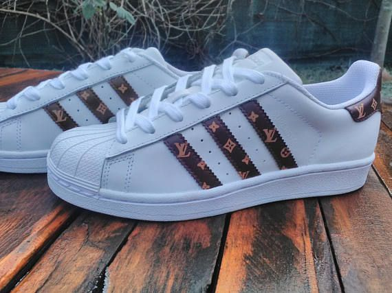 Goede Adidas Superstar X Louis Vuitton Inspired Custom Sneakers (With JU-52