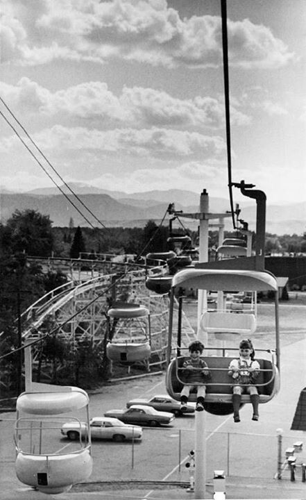ELITCH GARDENS 1971...I remember the gondolas went over the entire park and out over the parking lot. ..and seeing dropped shoes on the roof of some of the rides.