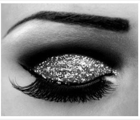 Beautiful Eye Glitter Makeup Gorgeous Make Pretty