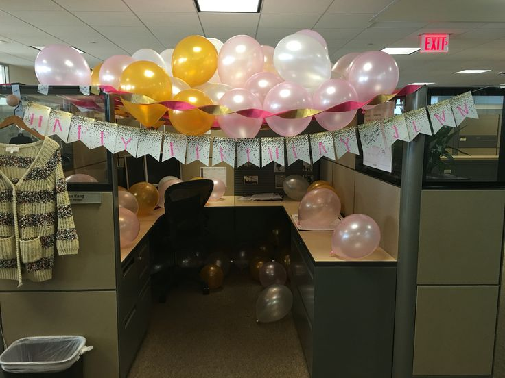 58 best Birthday Cubicle Decorations images on Pinterest Birthdays
