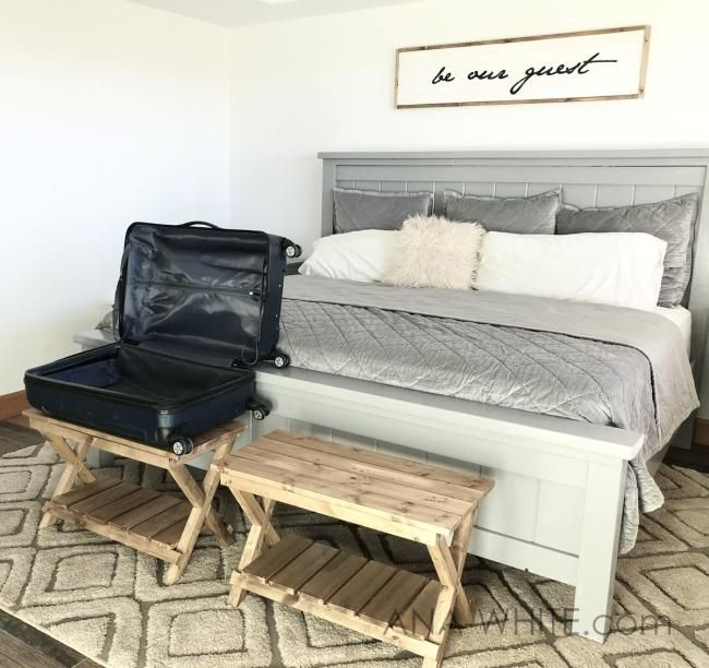 Upgraded Luggage Rack Or Suitcase Stand Benches End Of Bed Bench