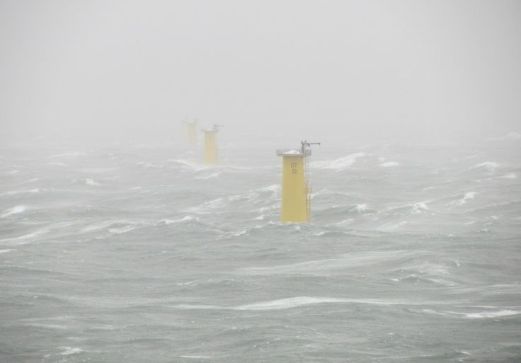 Storm 'Christian' Shakes DanTysk Offshore Wind Farm
