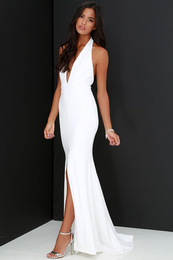 Time Out of Mind Ivory Halter Maxi Dress | Halter maxi ...