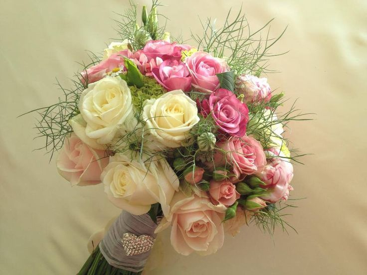 Pink and cream bride bouquet... Beautifully classy. Designed by Chanan's Floral Events.