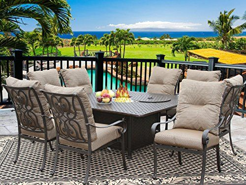 tortuga 64x64 square outdoor patio 9pc dining set for 8 person with rh pinterest com