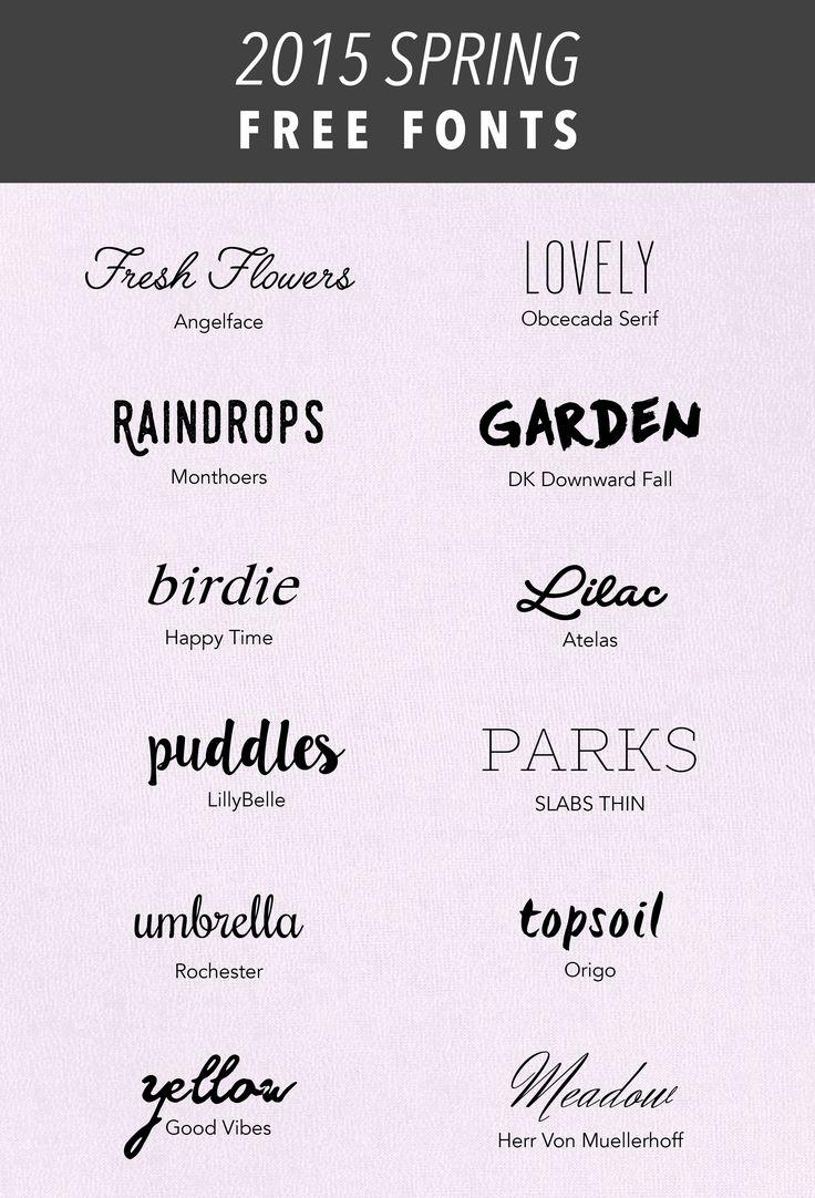 SIMPLE SANCTUARY   2015 Spring Free Fonts   http://www.simplesanctuaryblog.com