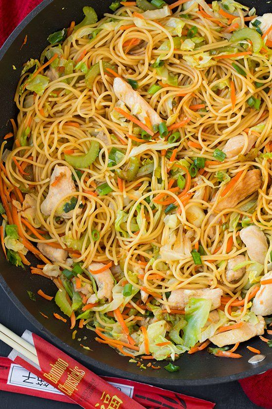 Skip your usual chicken chow mein takeout and make your own at home instead with this easy recipe.
