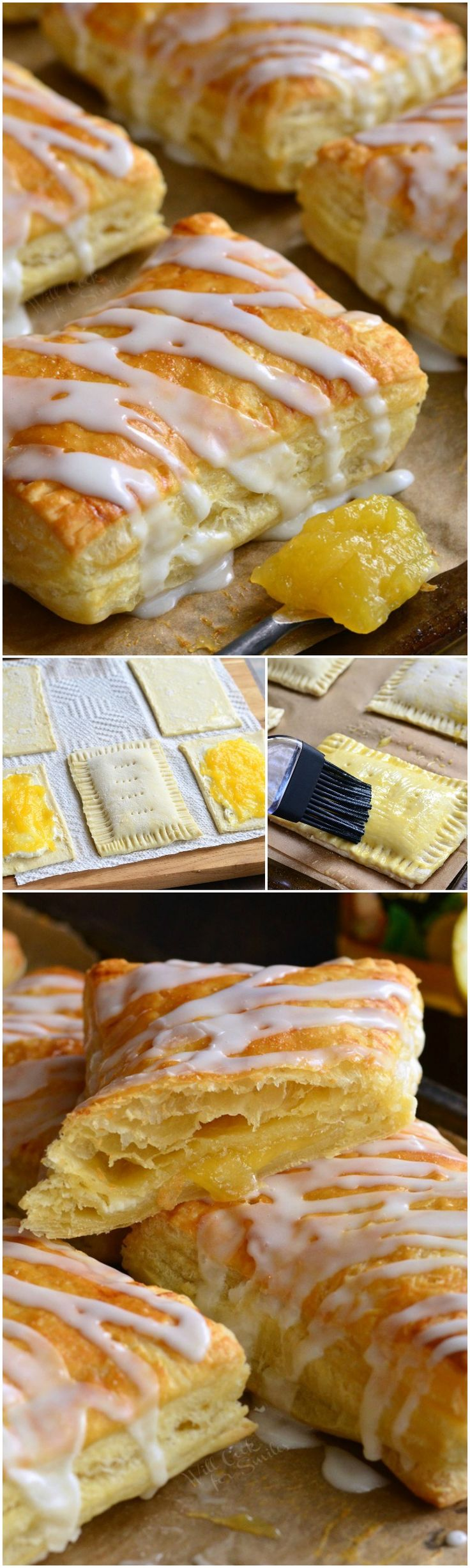 Lemon Cheesecake Hand Pies. These easy little lemon cheesecake hand pies are made with puff pastry, filled with a cheesecake mixture and lemon curd, and topped with a sweet glaze.(Baking Cheesecake Lemon)