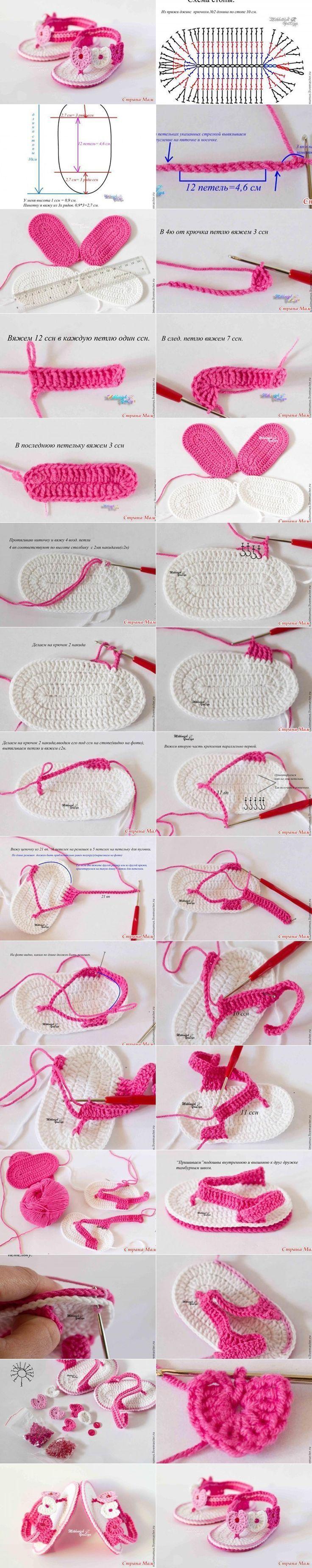 tutorial sapatinhos bebe em croche