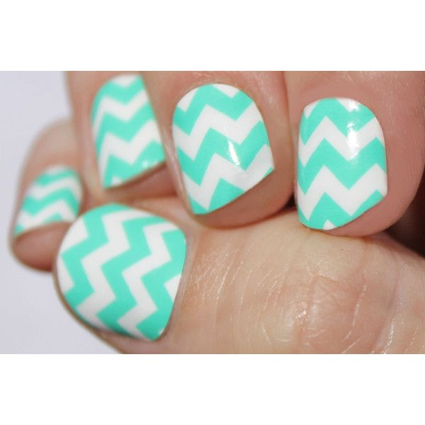 Mint Chevron Nail Wraps ($8) ❤ liked on Polyvore featuring beauty products, nail care, nail treatments, nails, bath & beauty, makeup & cosmetics, silver, blow dryer and hair blow dryer